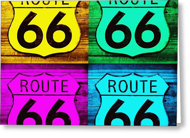 Main Street Greeting Cards - Route 66 Funked 002 Greeting Card by Robert ONeil