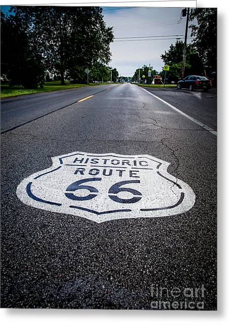 Main Street Greeting Cards - Route 66 - Gone but not forgotten Greeting Card by Jim Raines