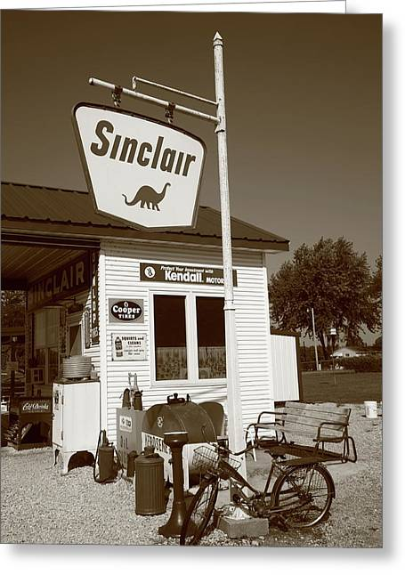 Bicycle Kick Greeting Cards - Route 66 - Paris Springs Missouri Greeting Card by Frank Romeo