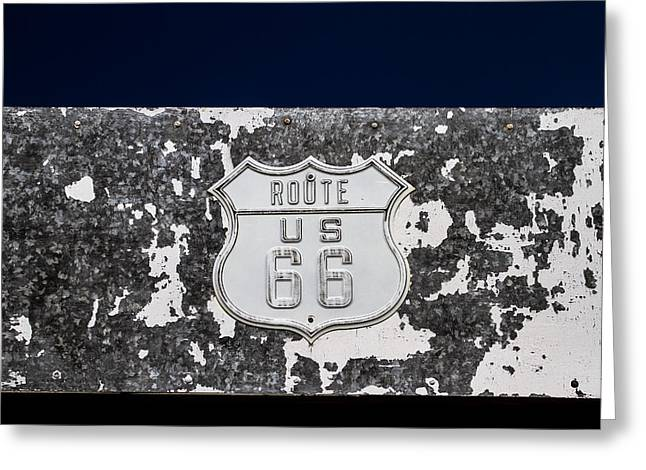 Abandond Greeting Cards - Route 66 Roys Hotel Greeting Card by Denise Dube