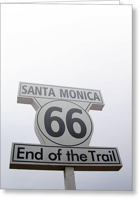 Route 66 Santa Monica- By Linda Woods Greeting Card by Linda Woods