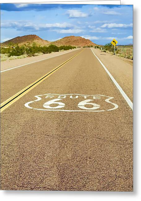 Route 66 Greeting Cards - Route 66 vintage Greeting Card by Lutz Baar