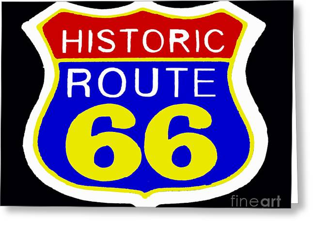Route 66 Vintage Sign Greeting Card by Saundra Myles