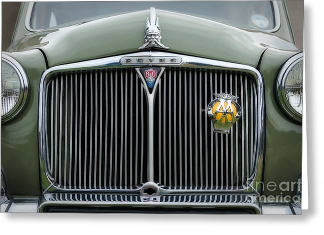 Saloons Greeting Cards - Rover 80 P4 Greeting Card by Carl Shellis