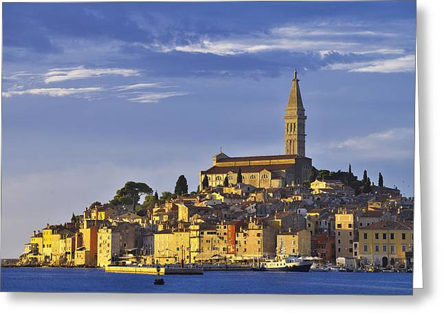 Paradise Pier Attraction Greeting Cards - Rovinj Greeting Card by Ivan Slosar