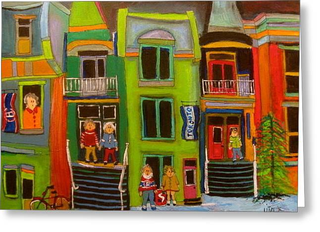 Row Houses Greeting Card by Michael Litvack