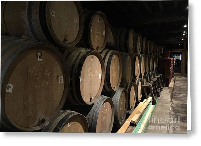 Row Of Barrels Greeting Card by Evan N