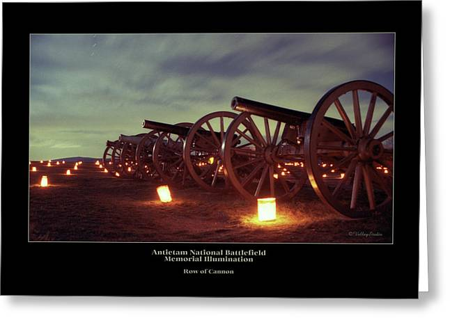 Luminaries Greeting Cards - Row of Cannon 98 Greeting Card by Judi Quelland