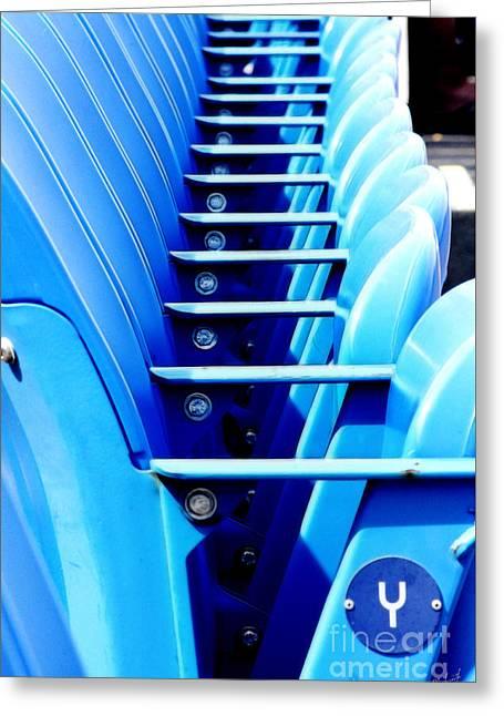 Row Of Stadium Seats Greeting Card by Nishanth Gopinathan