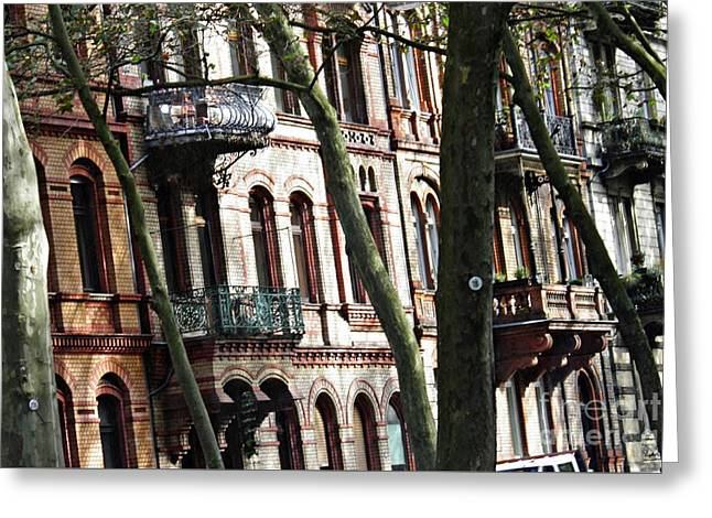 Rowhouses In Wiesbaden 1  Greeting Card by Sarah Loft