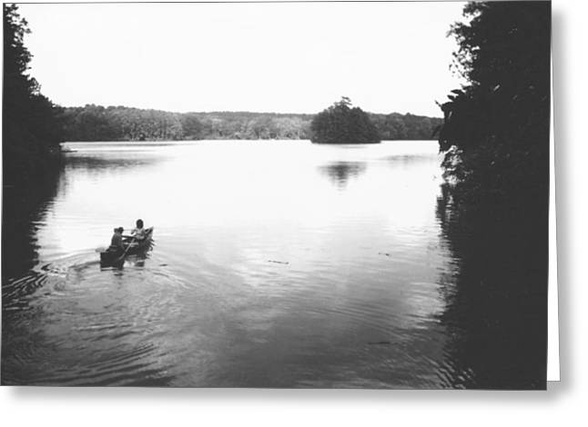Canoe Greeting Cards - Rowing Greeting Card by Utopia Concepts