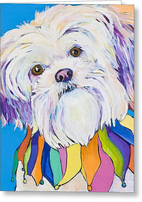 Pat Saunders-white Greeting Cards - Roxie Greeting Card by Pat Saunders-White