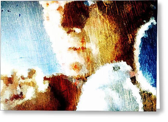 Roy Batty Greeting Card by Andrea Barbieri