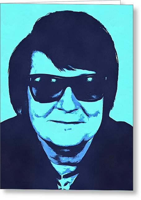 1980s Portraits Greeting Cards - Roy Orbison Greeting Card by Dan Sproul