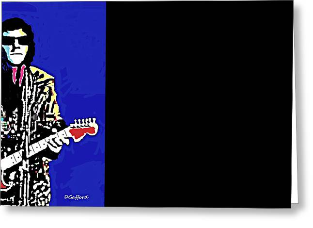 Roy Orbison Greeting Cards - Roy Orbison Greeting Card by Dave Gafford