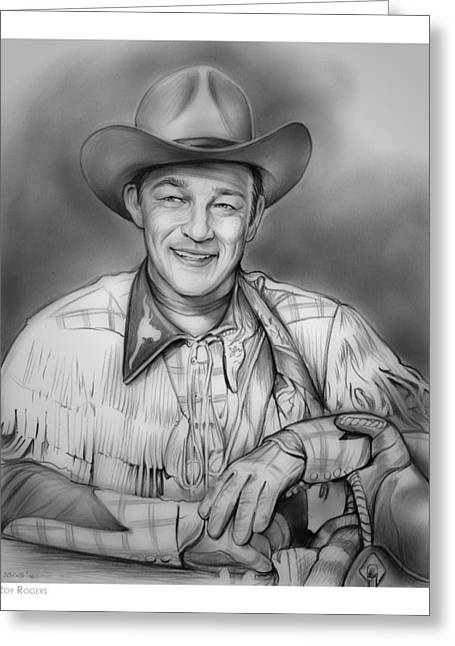 Roy Rogers Greeting Card by Greg Joens