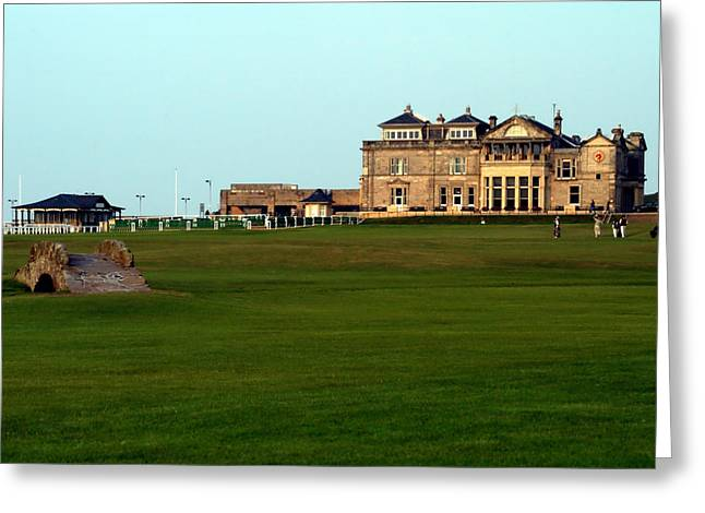 Golfcourse Greeting Cards - Royal and Ancient Golf Club at St Andrews Greeting Card by Lyle  Huisken