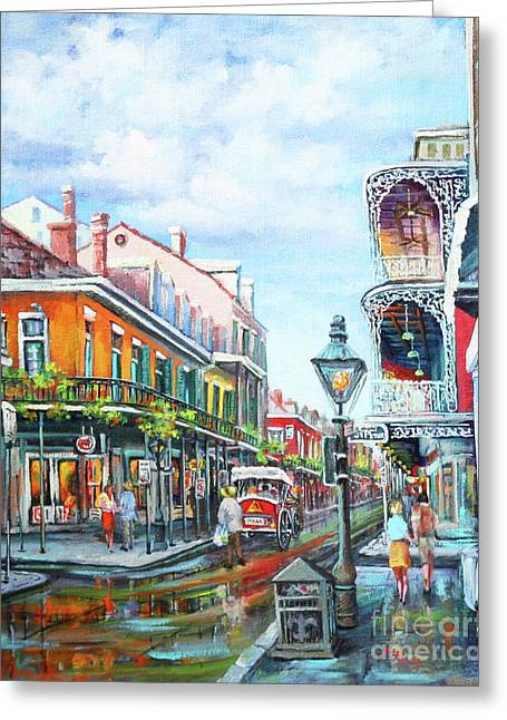 Royal Street Greeting Cards - Royal Balconies Greeting Card by Dianne Parks