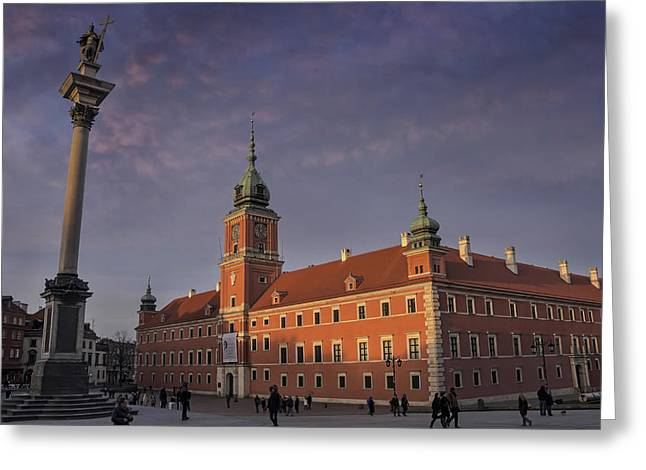 Mannerist Greeting Cards - Royal Castle Warsaw Old Town Greeting Card by Carol Japp