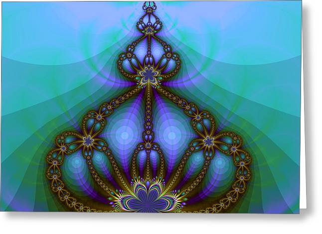 Repetition Greeting Cards - Royal Crown Greeting Card by Jutta Maria Pusl
