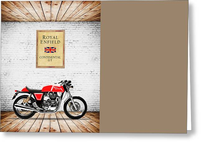 Cafe Greeting Cards - Royal Enfield Continental GT Greeting Card by Mark Rogan
