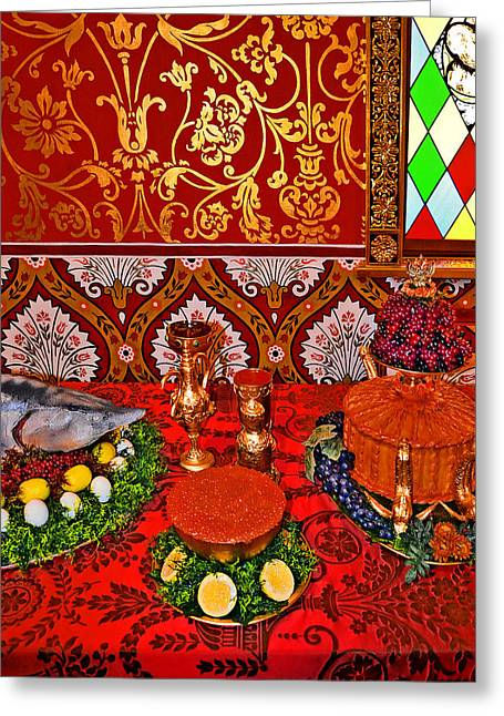 Royal Art Greeting Cards - Royal Feast. Greeting Card by Andy Za