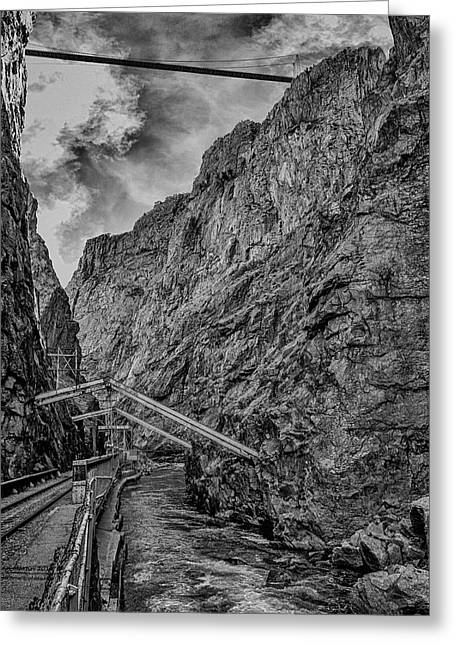 Royal Gorge Hanging Bridge Greeting Card by Glenn Martin