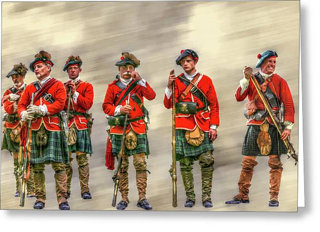 Militaria Greeting Cards - Royal Highlanders Review Greeting Card by Randy Steele