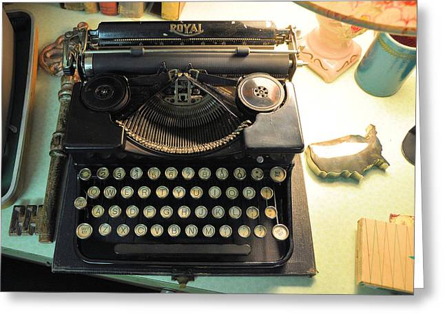 Typewriter Greeting Cards - Royal Greeting Card by Jan Amiss Photography