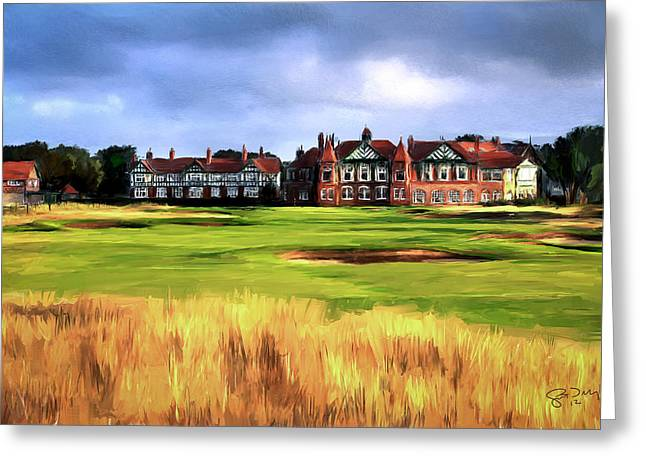 Scott Melby Greeting Cards - Royal Lytham St. Annes Golf Club Greeting Card by Scott Melby