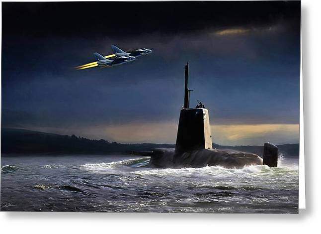 Nuclear Greeting Cards - Royal Nights Greeting Card by Peter Chilelli