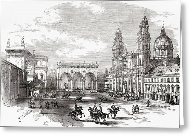 City Hall Drawings Greeting Cards - Royal Palace, Hall Of Marshals Greeting Card by Ken Welsh
