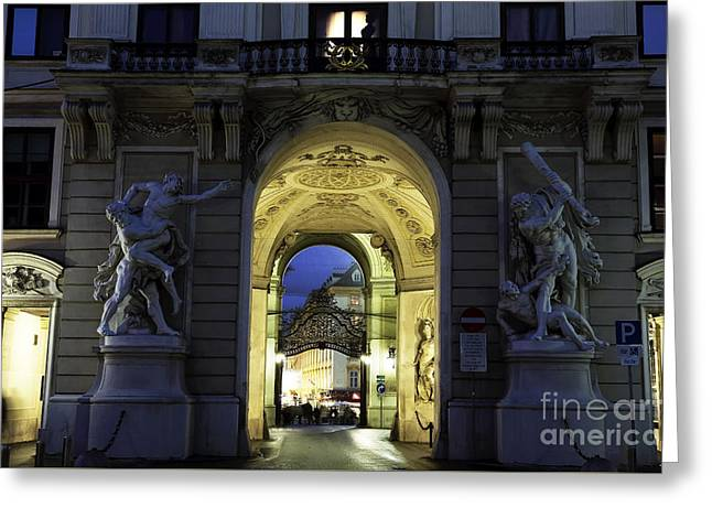 Royal Art Greeting Cards - Royal Passage in Vienna Greeting Card by John Rizzuto