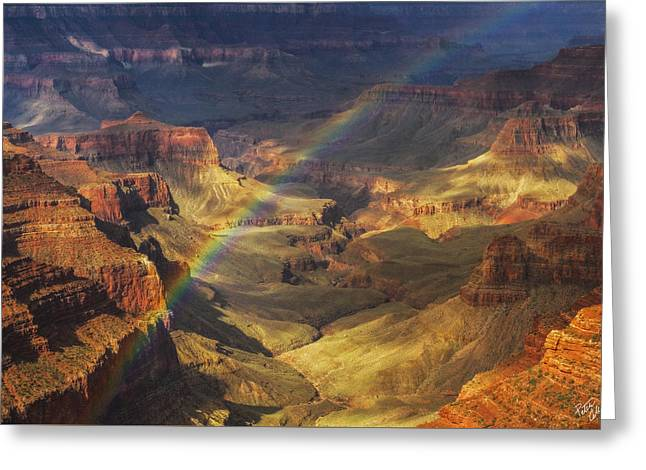 Storm Light Greeting Cards - Royal Rainbow Greeting Card by Peter Coskun