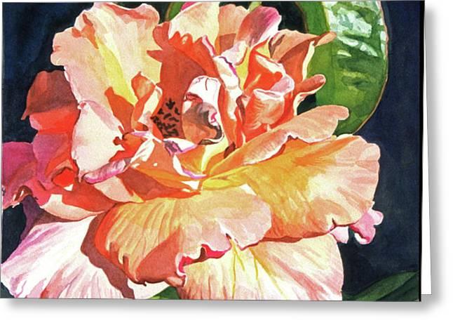 Royal Rose Greeting Card by David Lloyd Glover