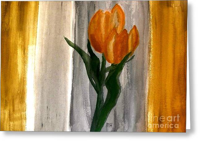 Copper Green Greeting Cards - Royal Tulips Greeting Card by Marsha Heiken