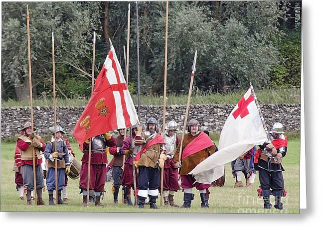 British Portraits Greeting Cards - Royalist Pikemen Greeting Card by Linsey Williams