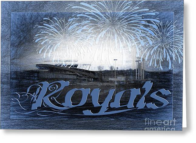 Baseball Art Greeting Cards - Royals Greeting Card by Andee Design