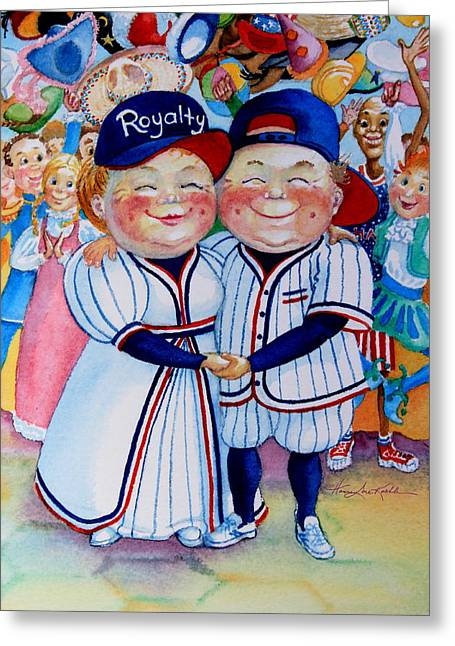 Baseball Caps Greeting Cards - Royalty Greeting Card by Hanne Lore Koehler
