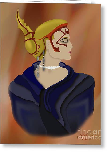Gold Necklace Greeting Cards - Royalty Greeting Card by Linda Seacord