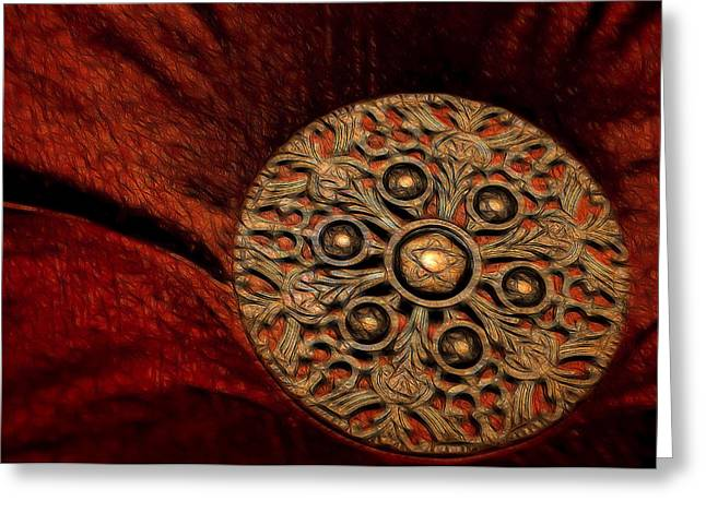 Gold Buttons Greeting Cards - Royalty Greeting Card by Steven Richardson