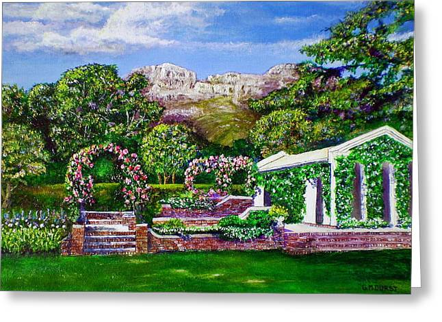 Stellenbosch Greeting Cards - Rozannes Garden Greeting Card by Michael Durst