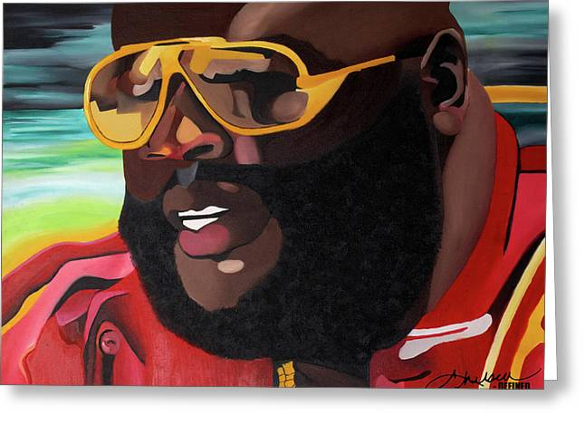 Miami Paintings Greeting Cards - Rozay Greeting Card by Chelsea VanHook