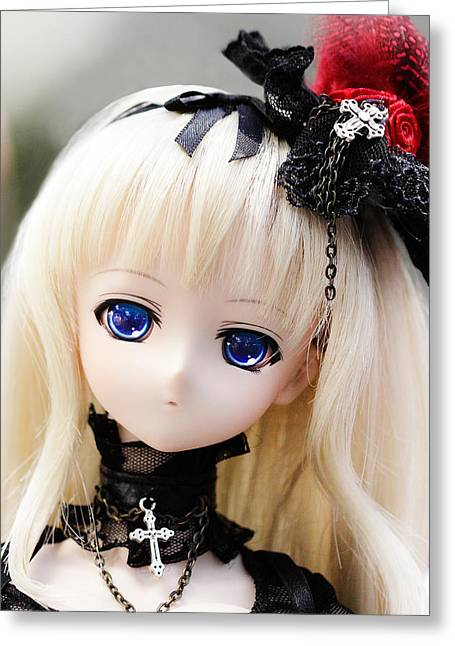 Cosplay Photographs Greeting Cards - Rozen Maiden Greeting Card by Hsin Liu