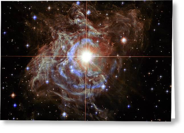 Rs Puppis Super Star Greeting Card by Mark Kiver