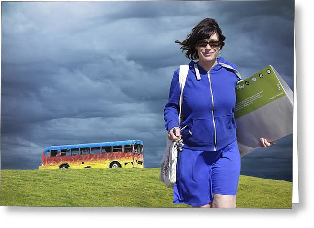 Ruapuke Magic Bus - Ruapuke, New Zealand Greeting Card by Stephen Winter