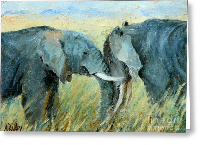 Two Together Greeting Card by Ann Radley
