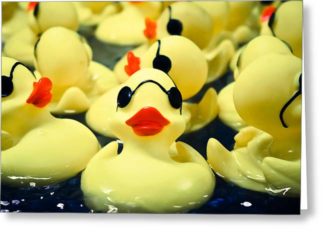 Rubber Duckie Greeting Card by Colleen Kammerer