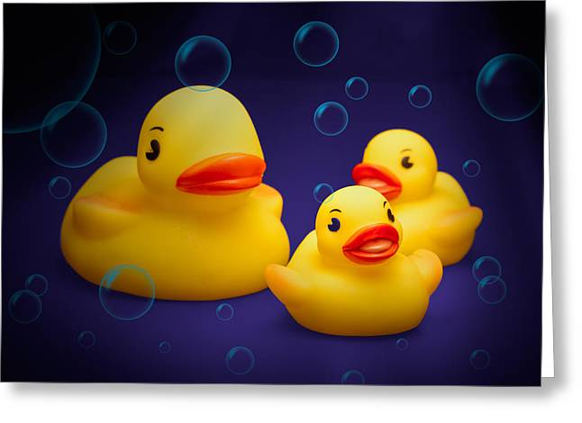 Rubber Ducky Greeting Cards - Rubber Duckies Greeting Card by Tom Mc Nemar