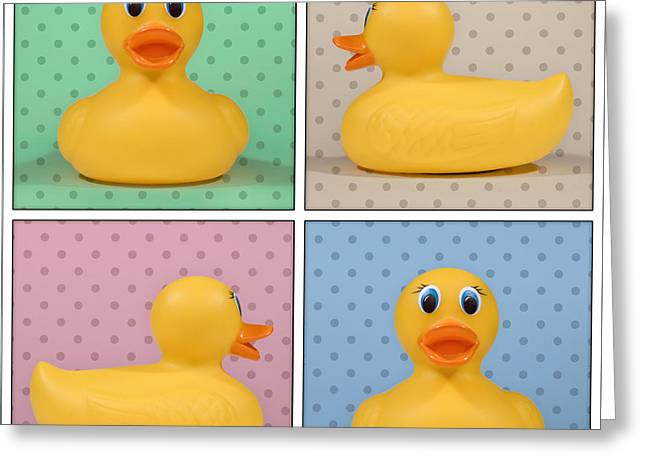 Rubber Ducky Greeting Card by Scott Norris